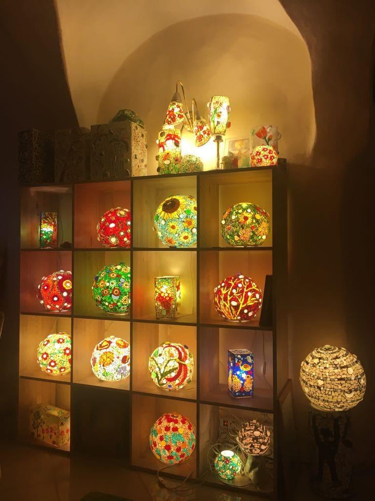Mosaik Glas Leuchten Kreativ Markt